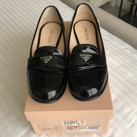 5a192233c04 Womens Prada Loafers size 9.5 39.5 Black Patent. M 5bba137d3e0caa921ca24147